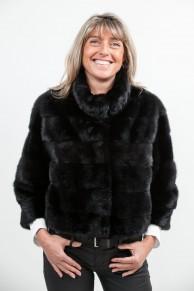 Black Mink Jacket with 7/8eme Sleeves