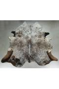 Peau de Vache Exotique Naturelle Marron Tachetée