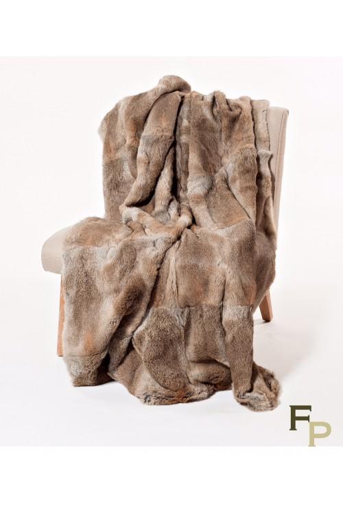 Natural Rabbit Fur Blanket