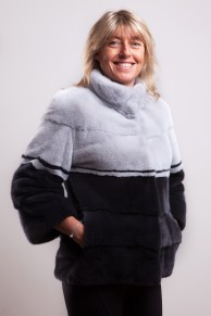Black Pearl and Grey Sapphire Mink Jacket