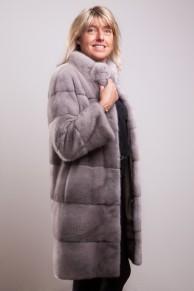 Silver Blue Mink Coat signed Casiani