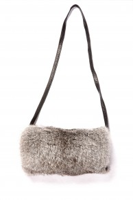 Hand Warmer in Grey Rabbit Fur