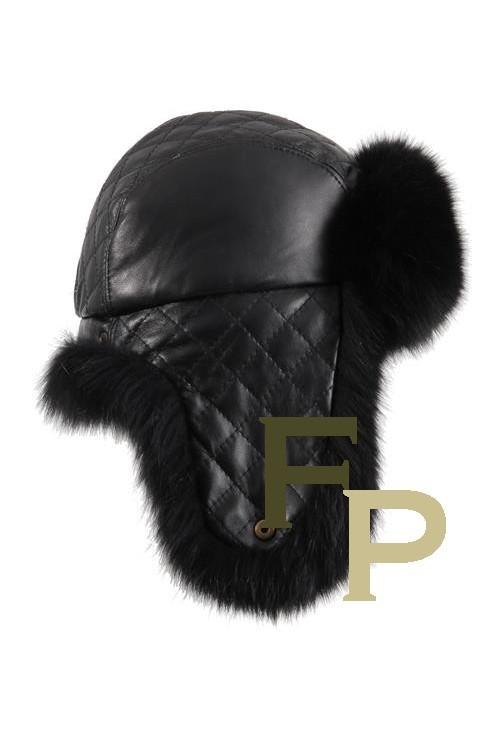 Grey Rabbit Ear-Flap Fur Hat