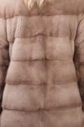 Manteau de Vison et Marte Pastel