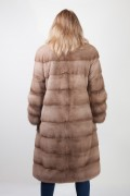 Pastel Mink and Martens Fur Coat