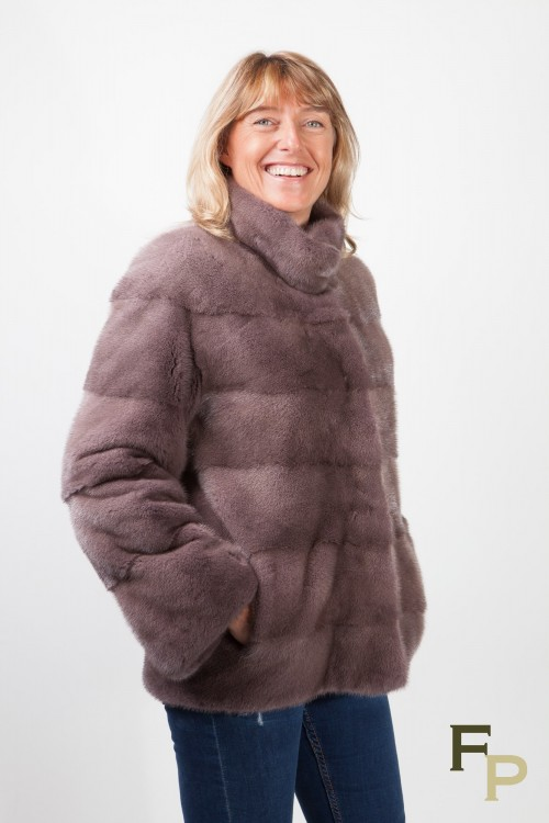 Iron Grey Mink Jacket