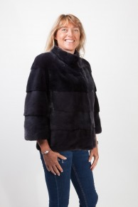 Double Black Mink Jacket