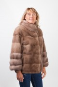 Pastel Mink and Martens Fur Jacket
