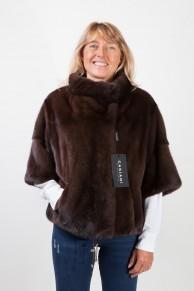 Dark Brown Mink  Fur Jacket by Casiani