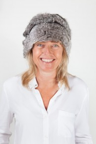 Hat in Natural Grey Rabbit