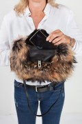 Fox Hand Warmer in Natural Fox Fur with Pocket