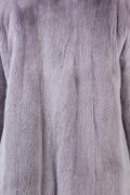 Crossover Coat in Gray Mink Fur