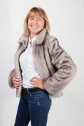 Silver Blue Mink Jacket in Full Skins