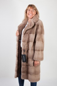 Long Pastel Mink Coat by Casiani