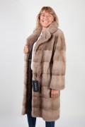 Long Pastel Mink Coat by Casiani