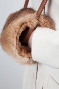 Fur Hand Warmer in Natural Rabbit Fur
