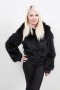(SOLD) Black Fox Jacket Gianni Versace