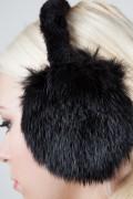 Protège-Oreilles en Lapin Long Hair Noir