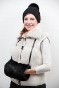 Black Rabbit Fur Hand Warmer