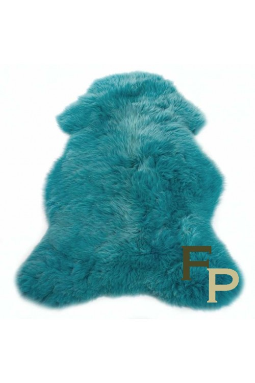 peau de mouton mérinos turquoise