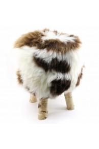 Tabouret en Mouton Merinos bicolore