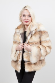 Gold  Fox Coat with hood