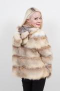 Gold  Fox Coat with hood