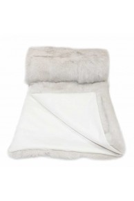 Large White Chalk Blanket in Rabbit Fur