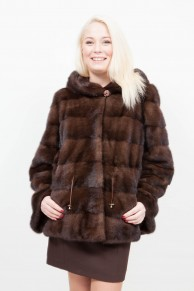 (SOLD) Long Brown Mink Jacket