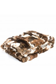 Brown Blanket in Orylag Rex Rabbit Fur