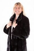 Long Black Coat in Blackglama Mink