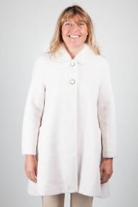 White Coat in Mink and Sherling