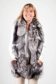 Long Scarf in Silver Fox Fur