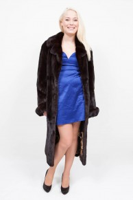 (SOLD) Dark Brown Mink Coat