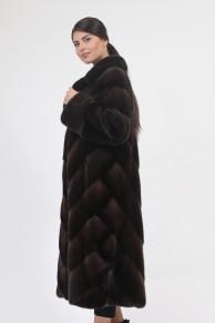 "Long Fur Mink Coat ""Herringbone"""