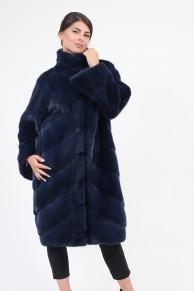 """Manteau """"Tokyo"""" en Fourrure de Vison Bleu"""