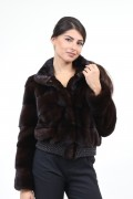 Brown Bomber in Mink Fur