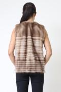 Long Jacket in Brown Mink Fur