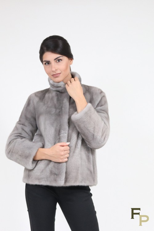 "Fur Mink Jacket ""Diagonal"""