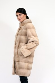 Manteau en Fourrure de Vison Terra