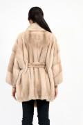 """Manteau """"Kimono"""" en Fourrure de Vison Terra"""