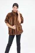 Dark Golden Mink Fur Jacket