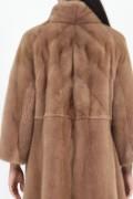 Golden Brown Mink Fur Coat