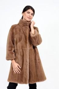 Manteau en Fourrure de Vison Camel