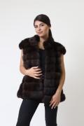 Vest in Sable and Black Mink Fur