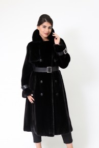 Trench Coat en Fourrure de Vison Blackglama