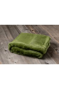 Green Rabbit Fur Blanket