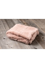 Green Rabbit Fur Blanket