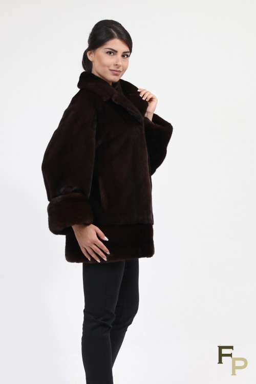 Veste en Fourrure de Vison Dark Brown