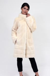 "Straight Mink Coat Colour ""Pearl"""